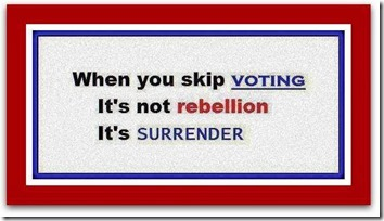 not voting is surrender
