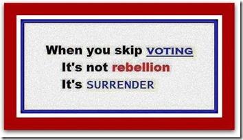 not voting is surrender