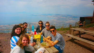 Photo: Having lunch on the summit of Mount Vesuvius