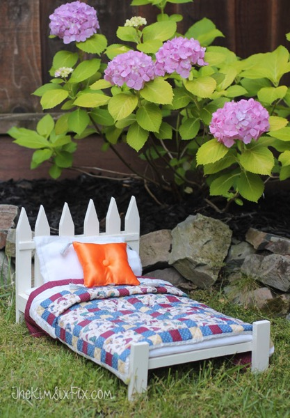 Easy doll bed DIY project