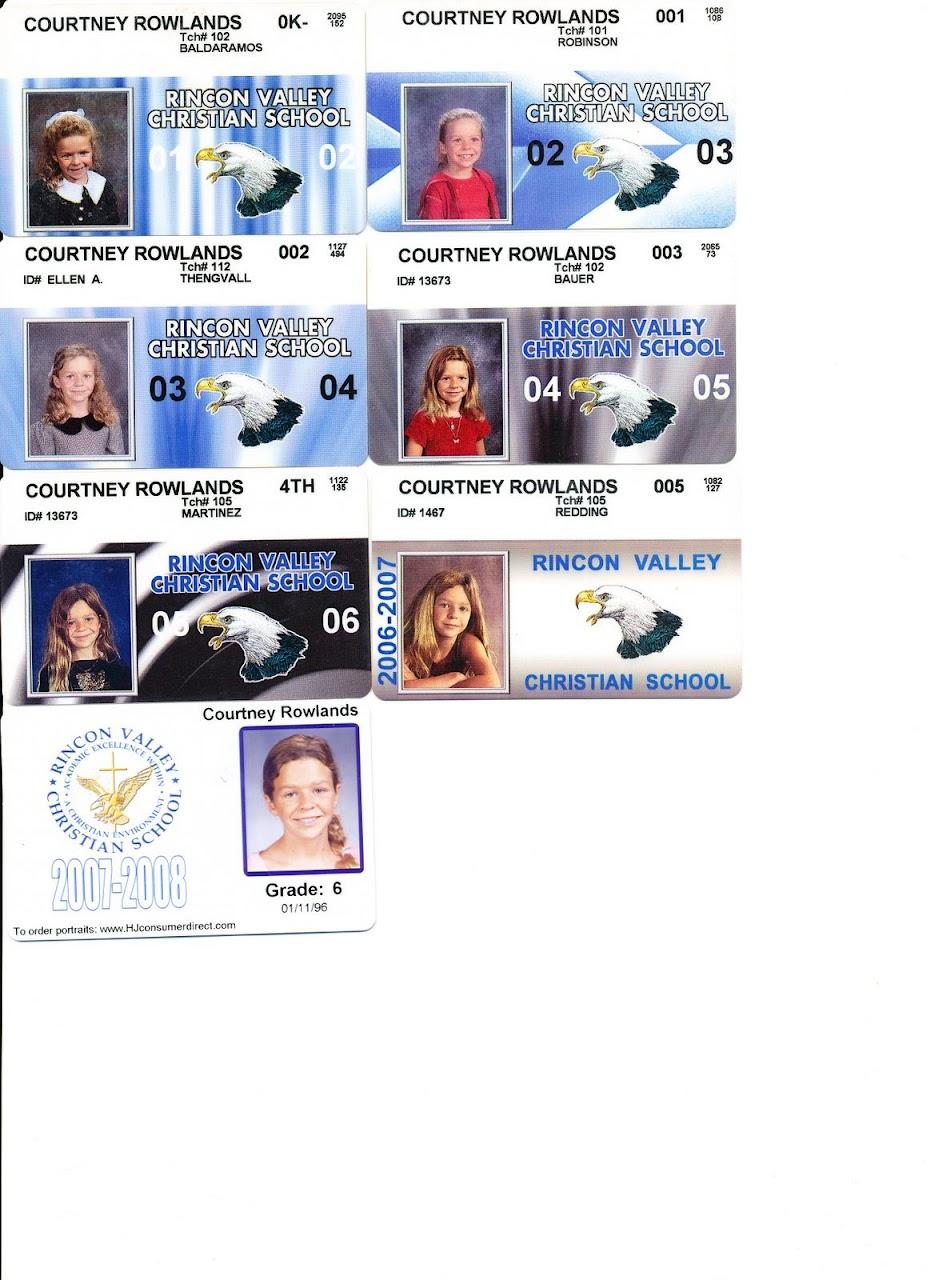 Courtney elementary school cards