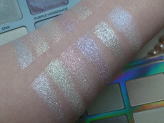 Rival de Loop young Unicorns Rainbow Shimmer Highlighter Palette Swatches