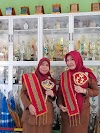 Gali Potensi Siswa, SMAN 4 Pekanbaru Ciptakan Selempang Motif Melayu Riau.