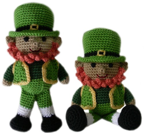leprechaun crocheted dolls