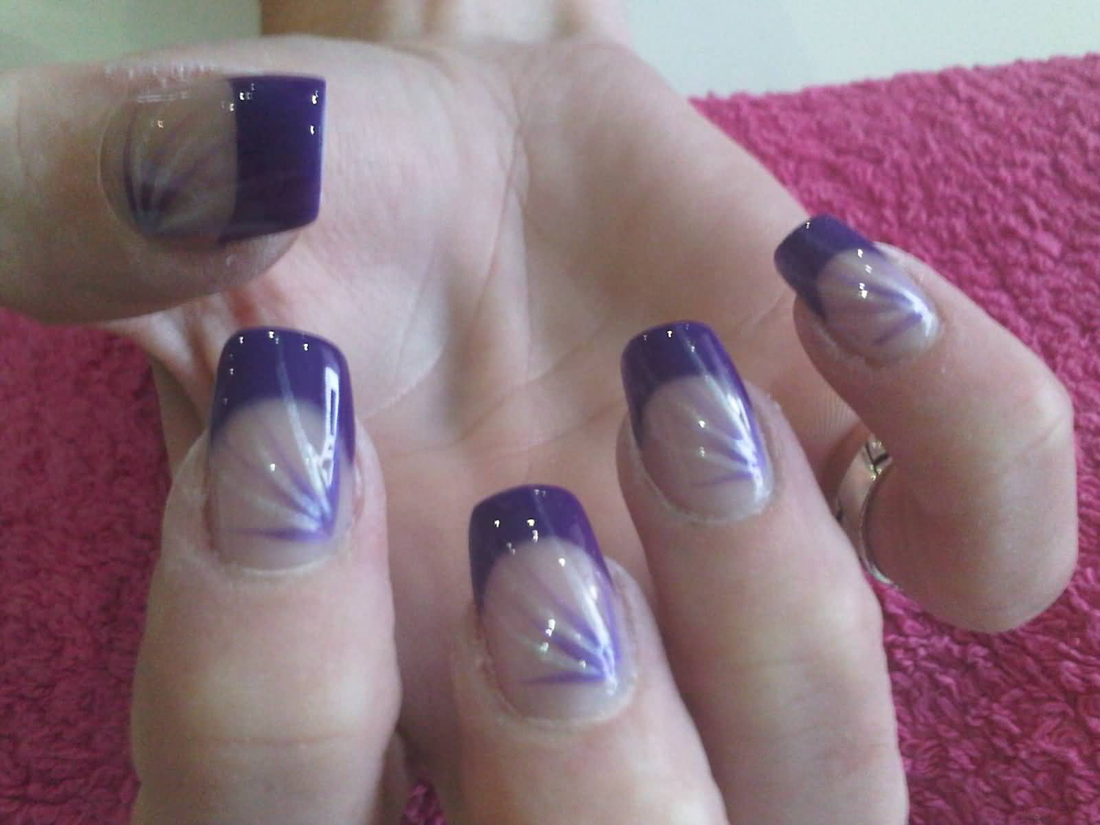 Nail Art Designs Purple And Silver - NailArts Ideas