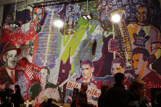Mural of Leafs heroes at new Loblaws.