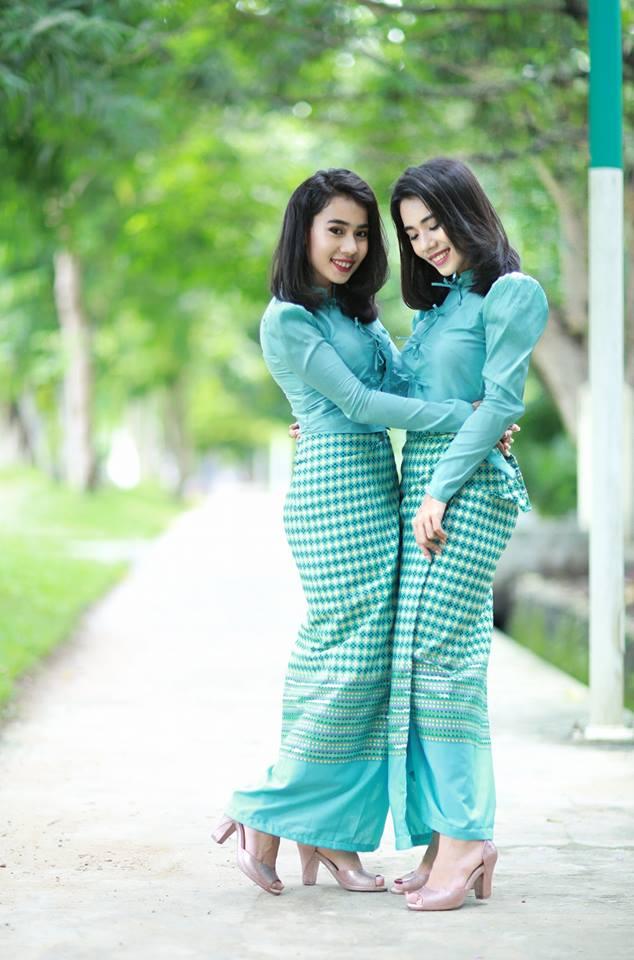 Best Myanmar Cotton Dress Oneset Design Pic Fashion 2D