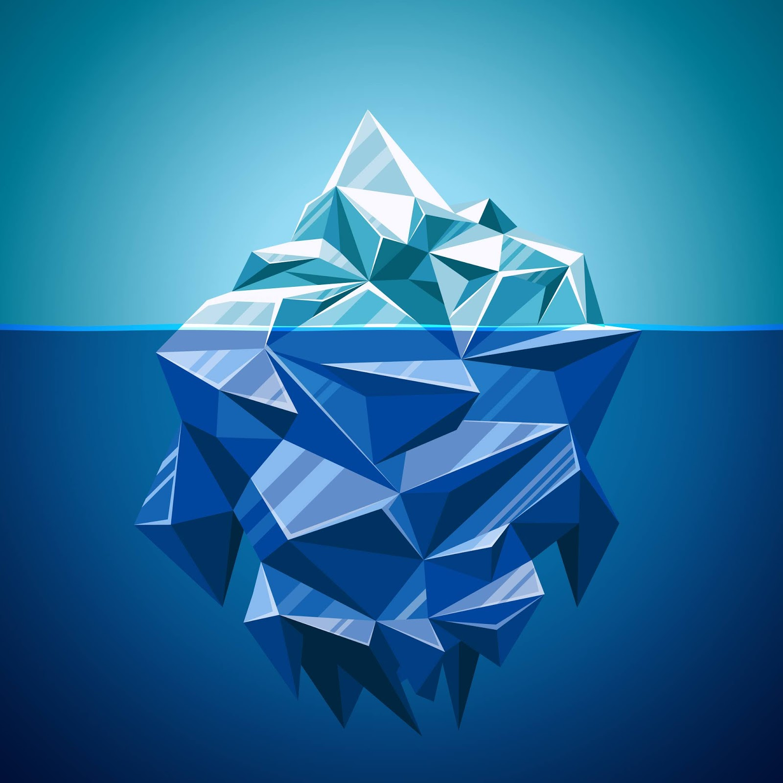 Snow Vector Iceberg Mountain Polygonal Style Water Sea Underwater Antarctic Landscape Free Download Vector CDR, AI, EPS and PNG Formats