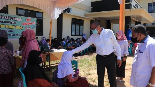 Diikuti 400 Orang, Wali Kota Riza Falepi Apresiasi Insan Pendidikan Sukseskan Vaksinasi