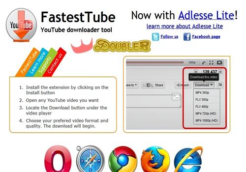 CHROME擴充功能好用系列-用FastestTube快速下載youtube影片