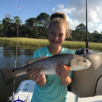 Abbie with another slot redfish 10-06-2018