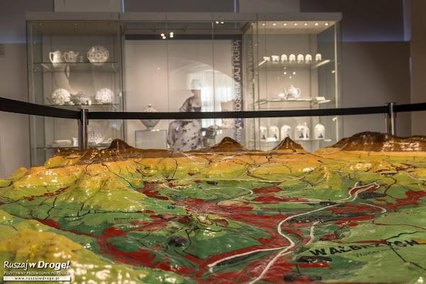 Muzeum Porcelany w Wałbrzychu - historyczna makieta