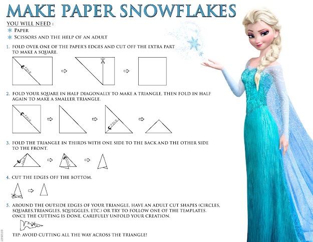 Disney Frozen How To Make Paper Snowflakes Printable