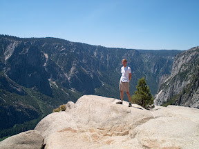 On top of Yosemite Point