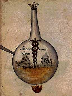 Our Mercury Living Pontic Water From Cabala Mineralis Manuscript, Hermetic Emblems From Manuscripts 1