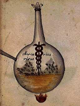 Our Mercury Living Pontic Water From Cabala Mineralis Manuscript, Hermetic Emblems From Manuscripts 1
