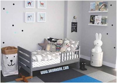 kamar anak warna abu abu