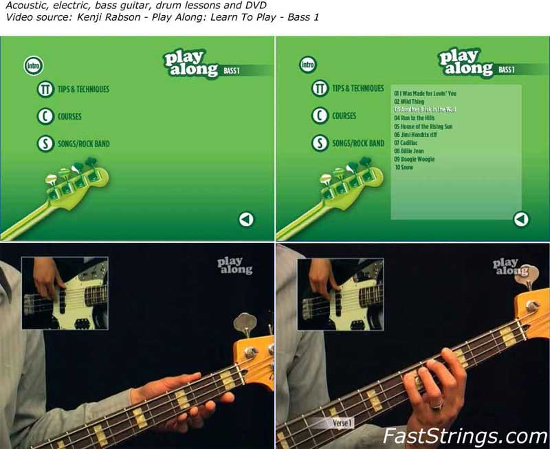 Kenji Rabson - Play Along: Learn To Play Bass 1