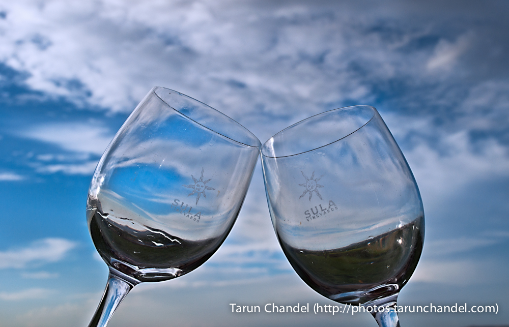 Wine Glasses Sula Vineyards Nashik, Tarun Chandel Photoblog