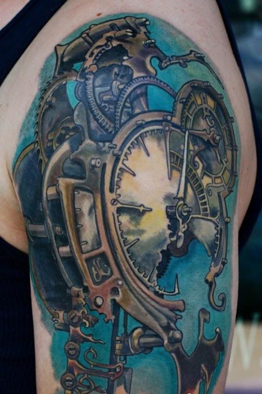 azul_steampunk_relgio_de_braço_de_tatuagem