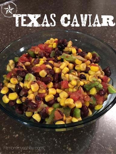 Texas caviar, bean dip, clean, healthy, BBQ, side dish, corn, avocado,