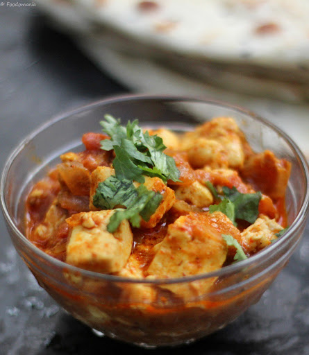 Paneer Tikka Masala Easy Recipe | Spicy Indian Side Dishes | Indian Paneer Tikka Masala Recipe written by Kavitha Ramaswamy of Foodomania.com