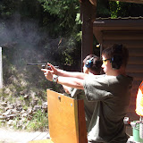 Ben practing with the pistol