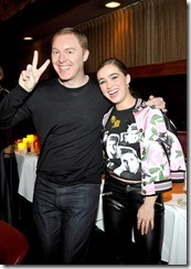 HOLLYWOOD, CA - MARCH 30:  Coach Creative Director Stuart Vevers (L) and actor Haley Lu Richardson attend the Coach & Rodarte celebration for their Spring 2017 Collaboration at Musso & Frank on March 30, 2017 in Hollywood, California  (Photo by Donato Sardella/Getty Images for Coach)