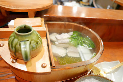 Tousuiro, a Tofu Kaiseki restaurant. Tousuiro specializes in homemade tofu and offers a kaiseki dinner that can include seafood or can also be completely vegetarian. The Yudofu here is sublime and supreme
