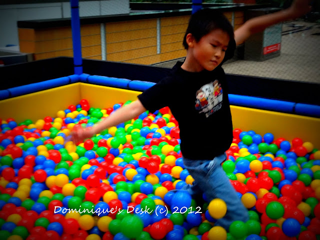 monkey boy in the ballpit