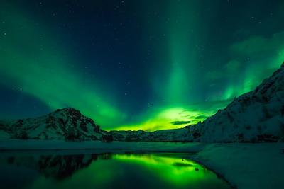 Aurora Boreal. Islândia, a terra do gelo