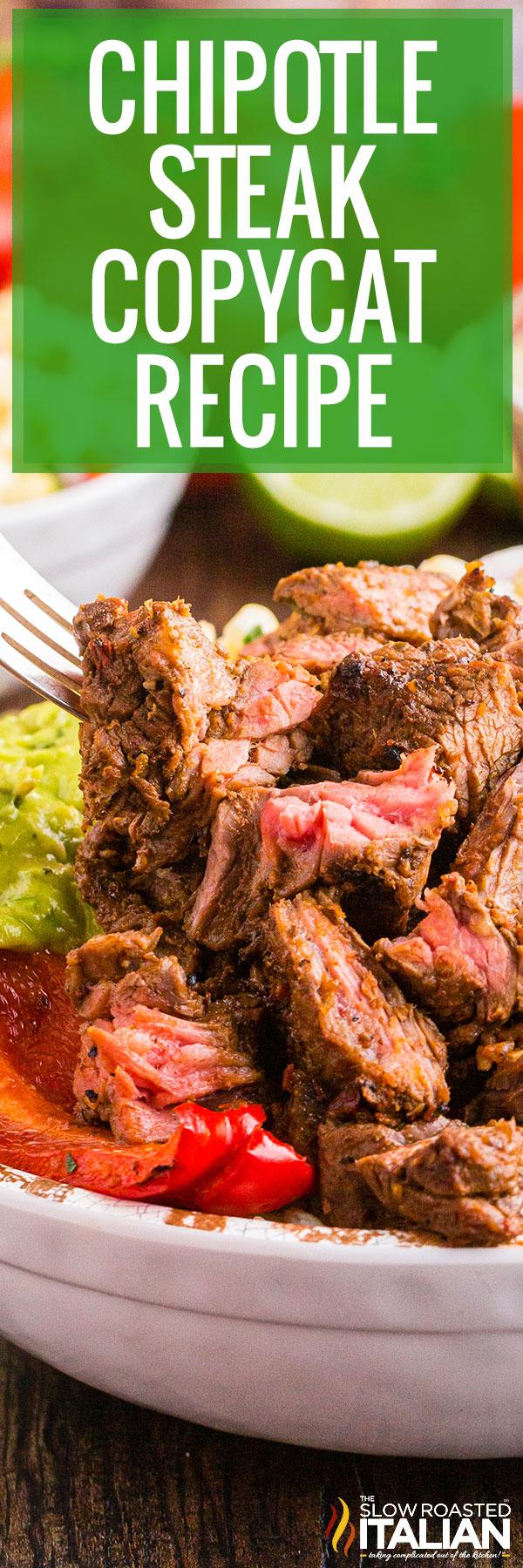 Chipotle Steak Copycat Recipe Closeup
