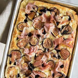 Fig Prosciutto Pizza with Fresh Mozzarella and Balsamic Glaze.