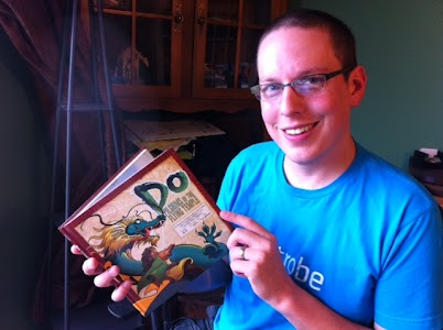 Me with my new copy of Do: Pilgrims of the Flying Temple