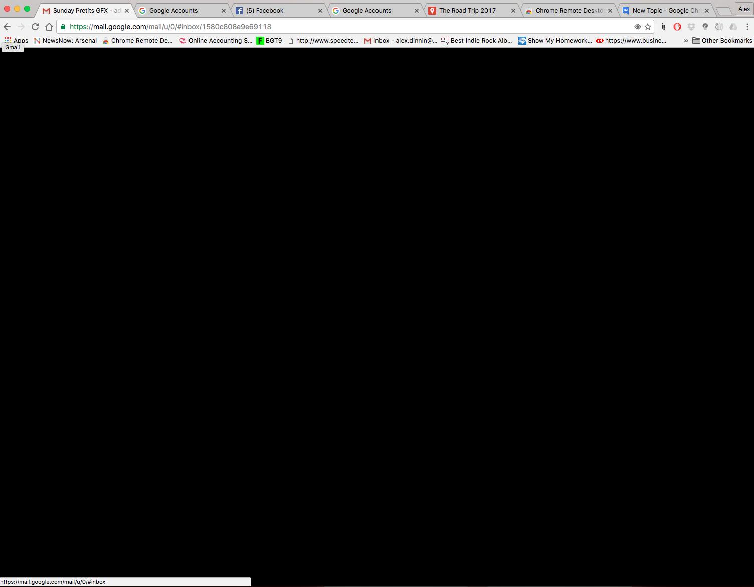 Google Chrome Canary Black Screen - carfasr