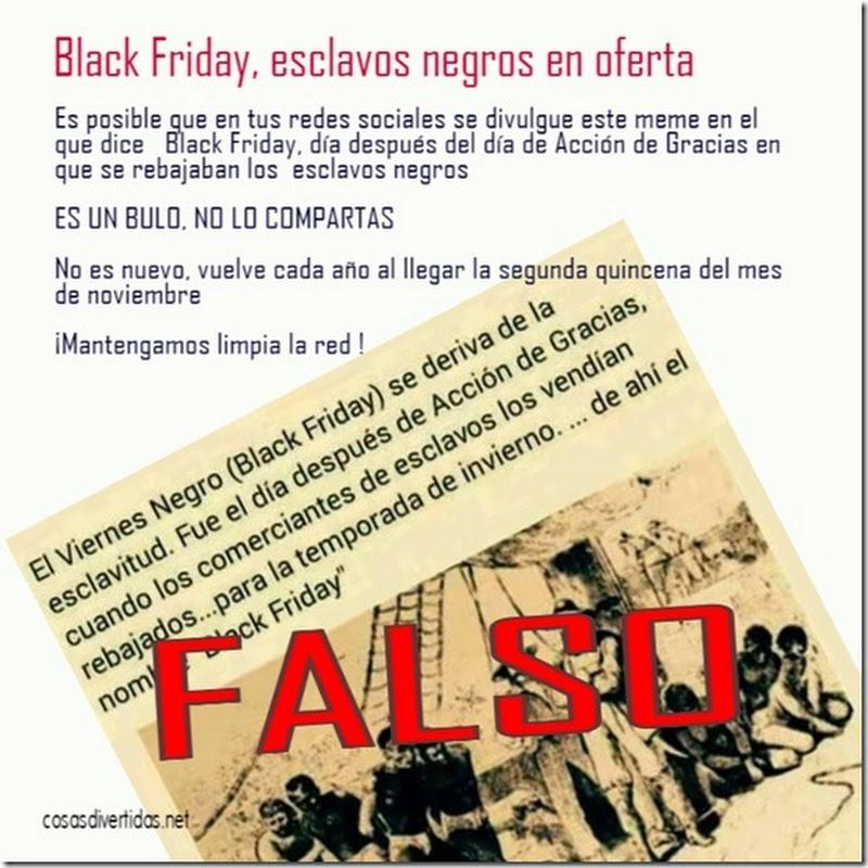 Black Friday, esclavos negros en oferta