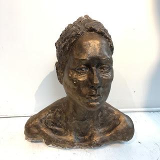 Bronzed Plaster Bust