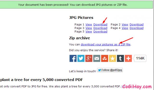 chuyển đổi pdf thành hình ảnh jpg hoàn tất