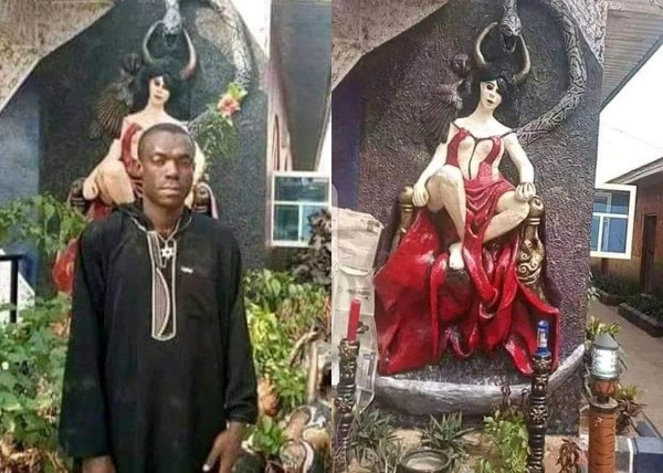 End Time! Church Of Satan was demolished in Abia, police arrest founder (photos)
