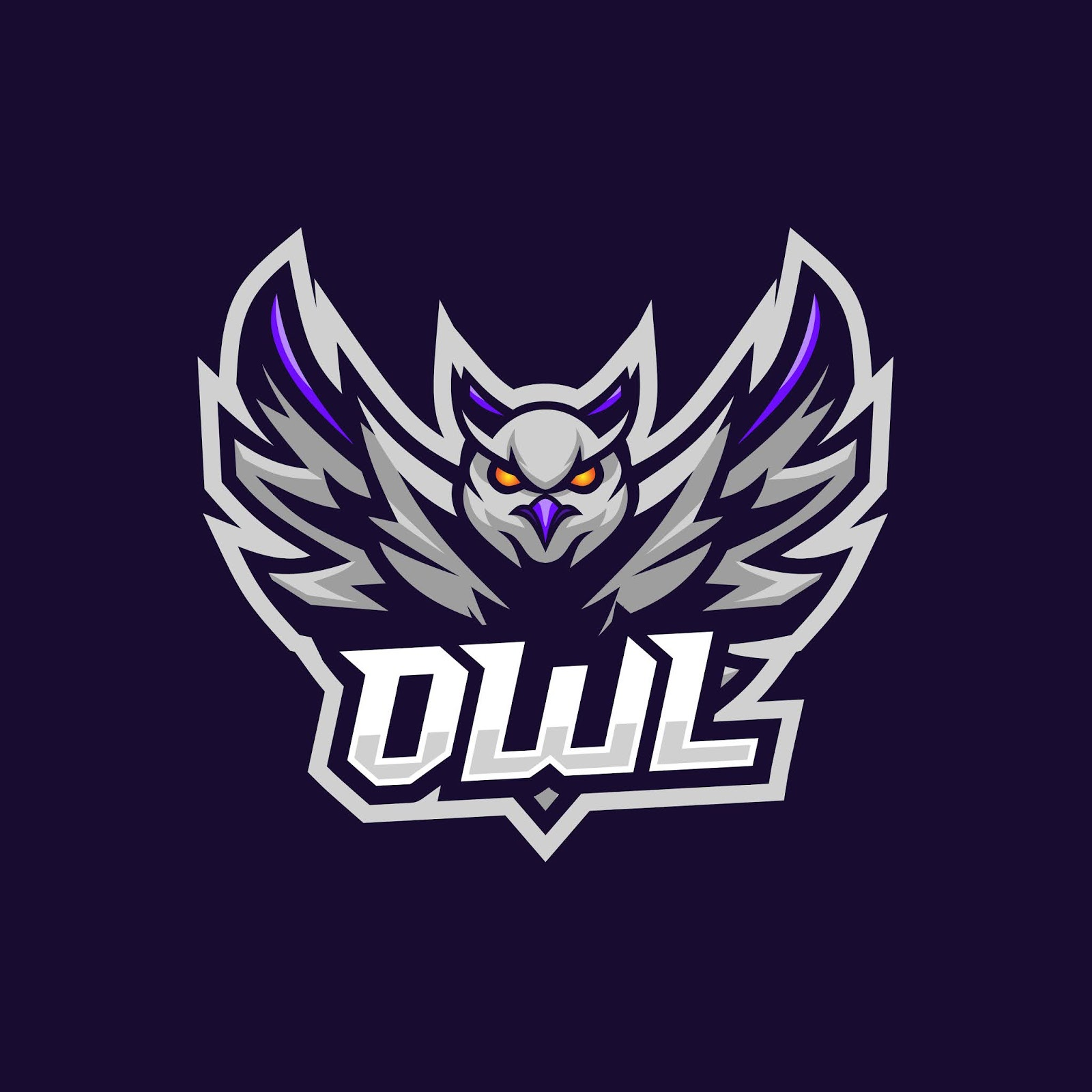 Owl Esport Logo Awesome Free Download Vector CDR, AI, EPS and PNG Formats