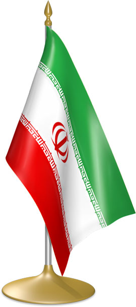 Iranian table flags - desk flags