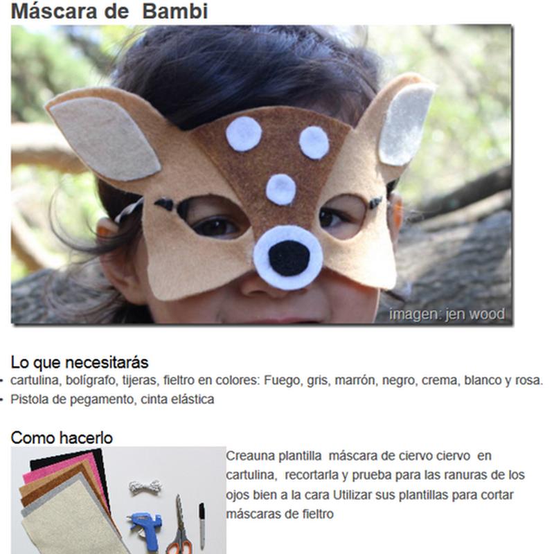 hacer Máscara de bambi en feltro