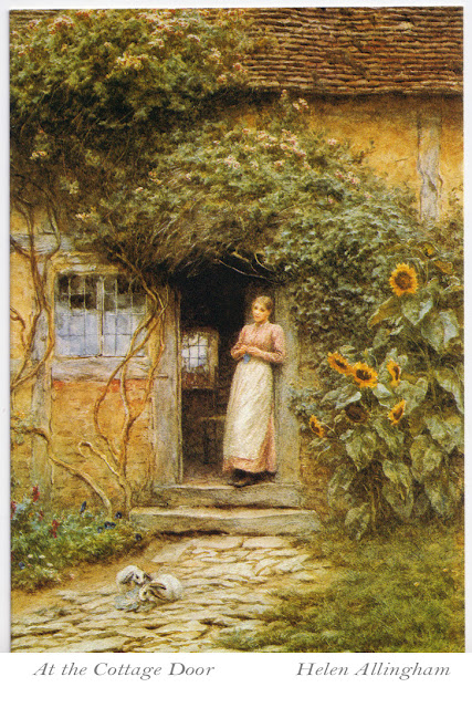 Helen Allingham - At the Cottage Door