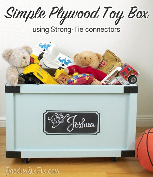 Simple plywood toy box to build