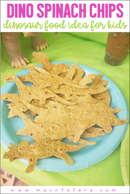 Dinosaur Spinach Chips