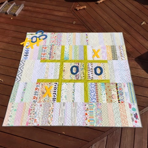 Let's Play Tic Tac Toe -quilt