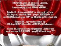 Perhatikan !!! Apa sebenarnya Hakikat Kemerdekaan RI yang harus diperjuangan Warga Indonesia Saat Ini ?
