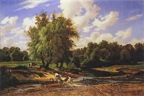 Коровы на водопое.1867 год.jpg