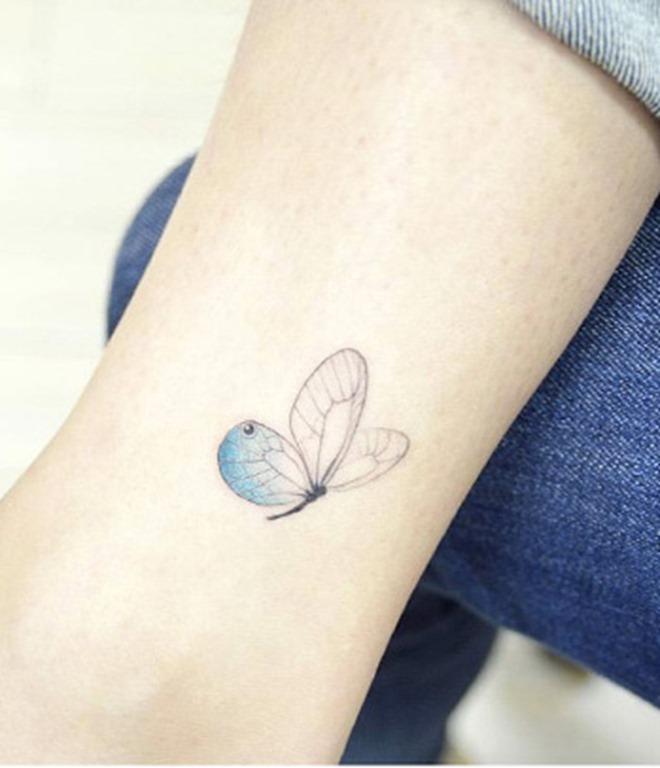 Esta borboleta azul