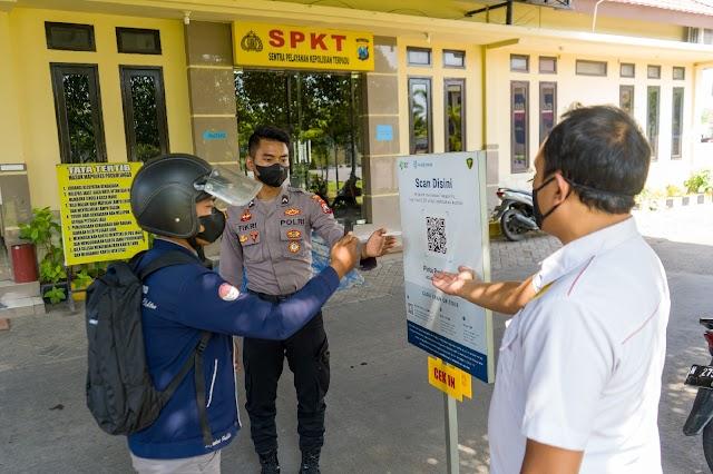 Pengunjung Polres Probolinggo Wajib Gunakan Aplikasi PeduliLindungi